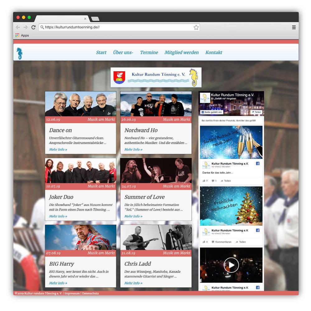 Website Kultur Rundum Tönning e. V.