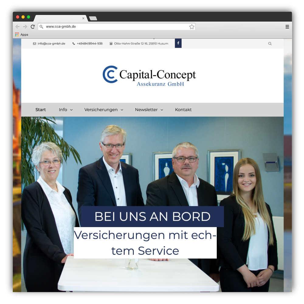 Abbildung der Website www.cca-gmbh.de